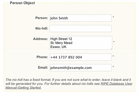 Supporting Notes for the ENUM Request Form RIPE Network – Example of Leave Form
