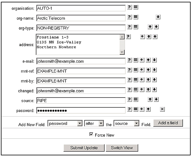 ENUM Request Form, Screenshot 4