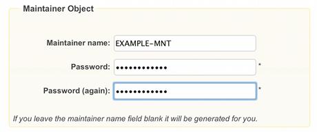 ENUM Request Form, Screenshot 2