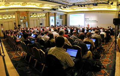 A crowded hall for RIPE 61 meeting in Amsterdam