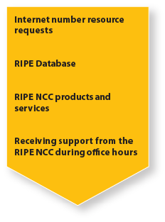 I have a question/comment about the RIPE Database, RIPE NCC Products